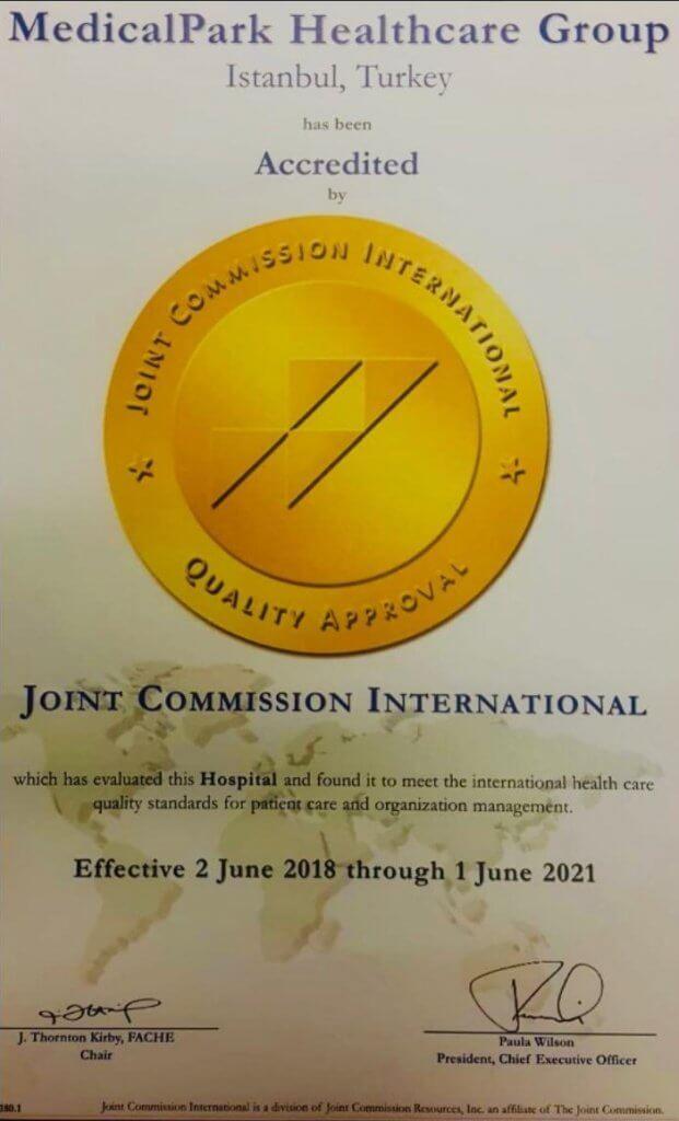 MedicalPark JCI Zertifikat